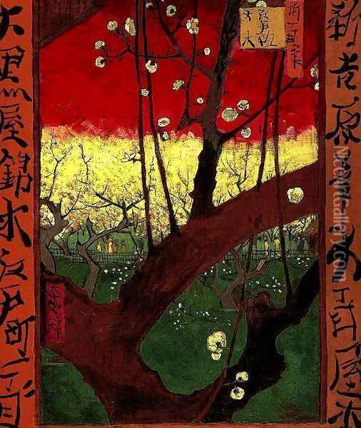 Flowering Plum Tree Oil Painting - Vincent Van Gogh