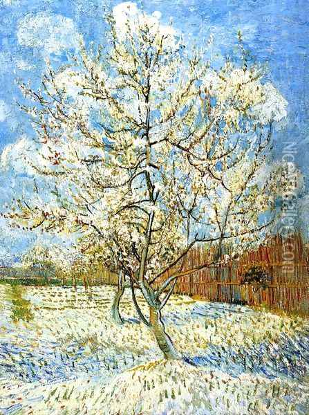 Peach Tree In Blossom Oil Painting - Vincent Van Gogh