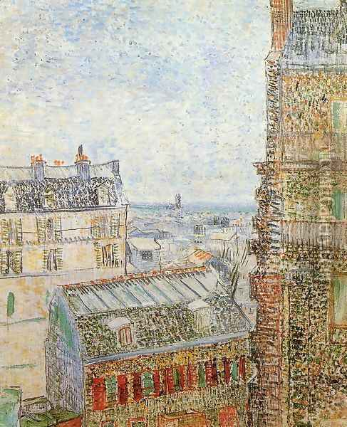 View of Paris from Vincent's Room in the Rue Lepic Oil Painting - Vincent Van Gogh