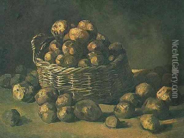 Basket Of Potatoes Oil Painting - Vincent Van Gogh