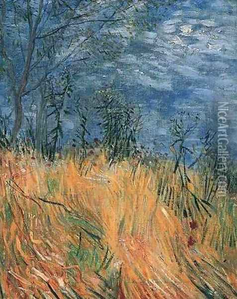 Edge Of A Wheatfield With Poppies Oil Painting - Vincent Van Gogh