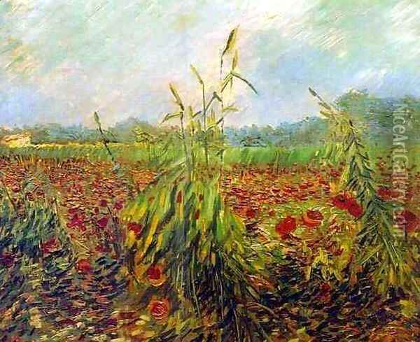 Green Ears Of Wheat Oil Painting - Vincent Van Gogh
