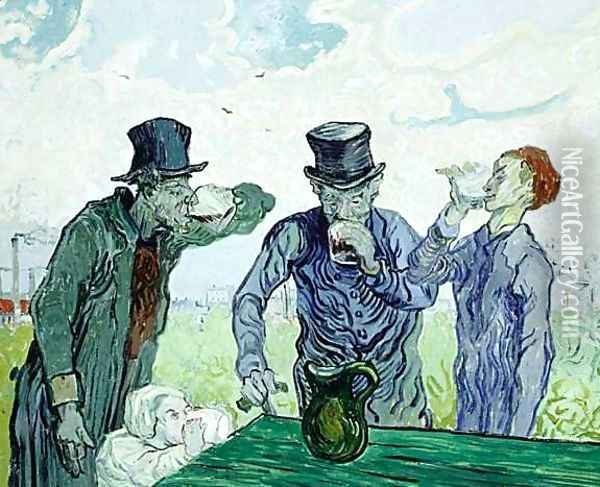 The Drinkers Oil Painting - Vincent Van Gogh