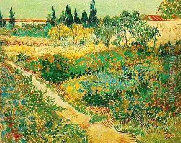 Flowering Garden With Path Oil Painting - Vincent Van Gogh