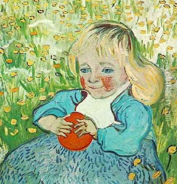 Child With Orange Oil Painting - Vincent Van Gogh