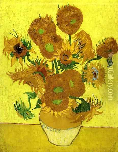 Still Life with Sunflowers Oil Painting - Vincent Van Gogh