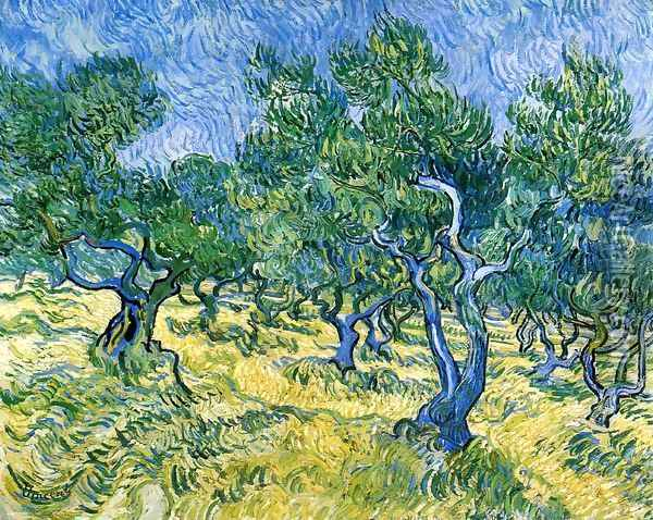 Olive Grove II Oil Painting - Vincent Van Gogh