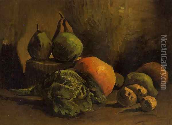 Still Life With Vegetables And Fruit Oil Painting - Vincent Van Gogh