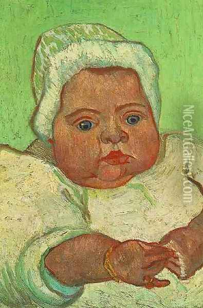 The Baby Marcelle Roulin Oil Painting - Vincent Van Gogh
