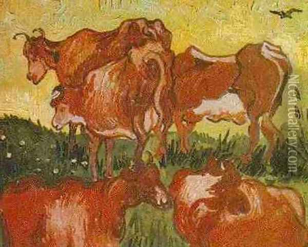 Cows (after Jordaens) Oil Painting - Vincent Van Gogh