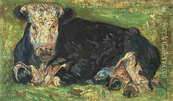 Lying Cow Oil Painting - Vincent Van Gogh