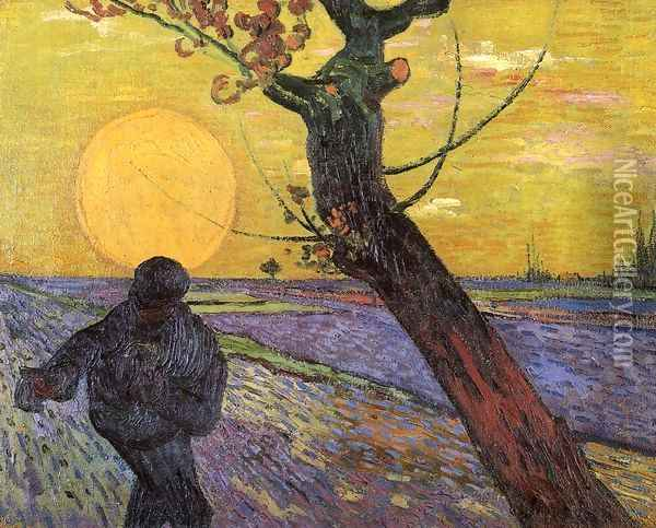 Sower The III Oil Painting - Vincent Van Gogh