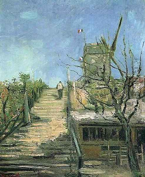 Windmill On Montmartre Oil Painting - Vincent Van Gogh