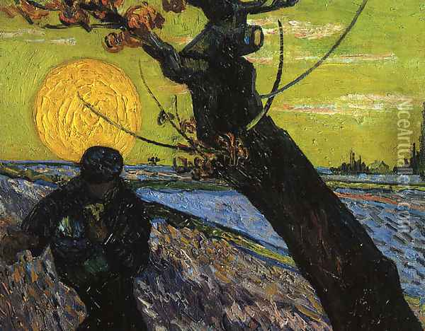 The Sower 2 Oil Painting - Vincent Van Gogh