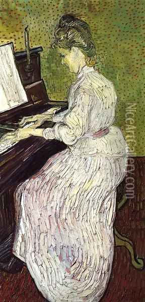 Marguerite Gachet At The Piano Oil Painting - Vincent Van Gogh