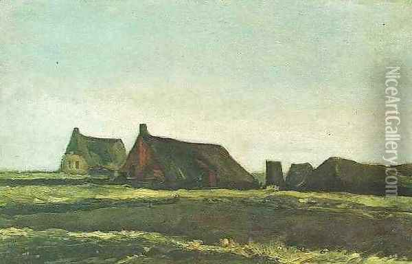 Cottages Oil Painting - Vincent Van Gogh