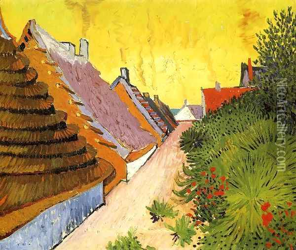 Street In Saintes Maries Oil Painting - Vincent Van Gogh