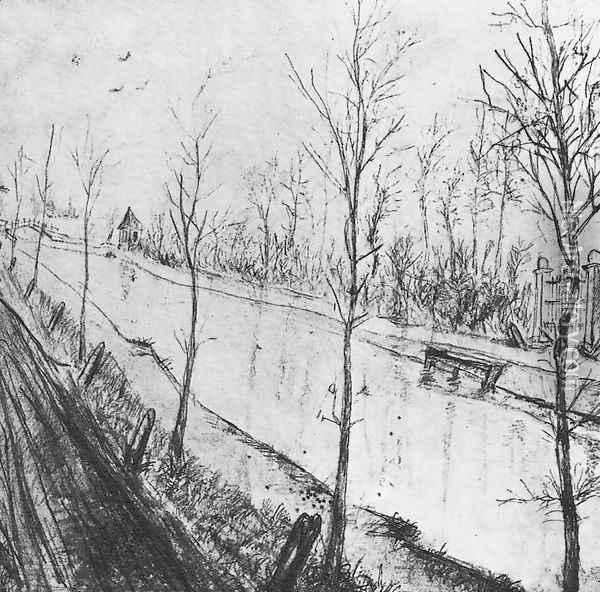 Canal Oil Painting - Vincent Van Gogh