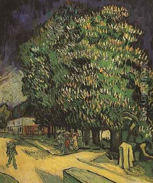 Chestnut Tree In Blossom III Oil Painting - Vincent Van Gogh