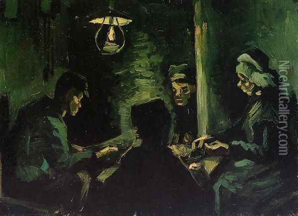 Four Peasants at a Meal Oil Painting - Vincent Van Gogh