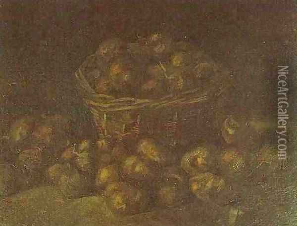 Basket Of Potatoes II Oil Painting - Vincent Van Gogh