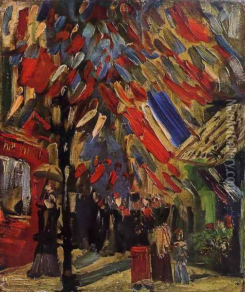 The Fourteenth Of July Celebration In Paris Oil Painting - Vincent Van Gogh