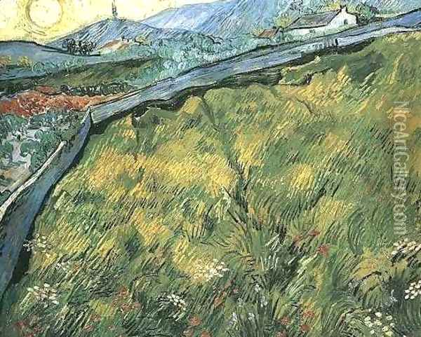 Field Of Spring Wheat At Sunrise Oil Painting - Vincent Van Gogh