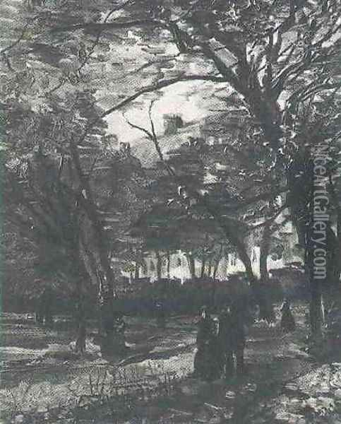 Bois De Boulogne With People Walking The II Oil Painting - Vincent Van Gogh