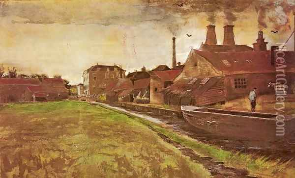Factory of M. Enhoven Oil Painting - Vincent Van Gogh