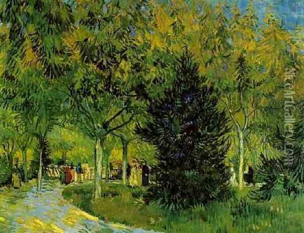 Lane In The Public Garden At Arles A Oil Painting - Vincent Van Gogh