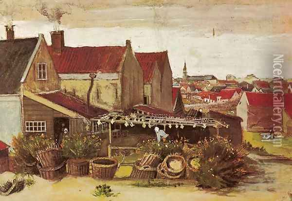 Drying House at Scheveningen Oil Painting - Vincent Van Gogh