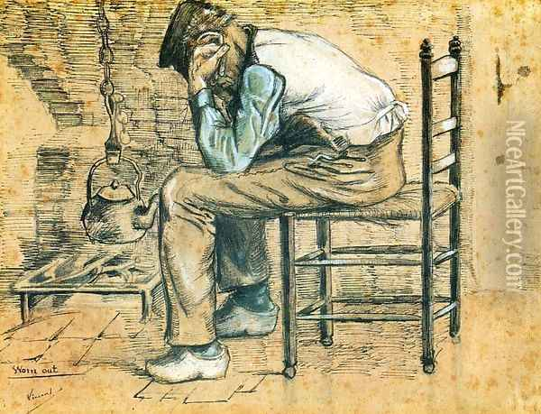Worn Out Oil Painting - Vincent Van Gogh