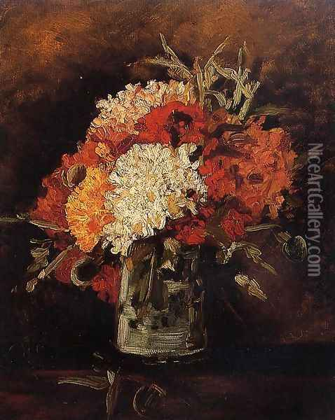 Vase with Carnations Oil Painting - Vincent Van Gogh