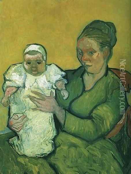 Mother Roulin With Her Baby Oil Painting - Vincent Van Gogh