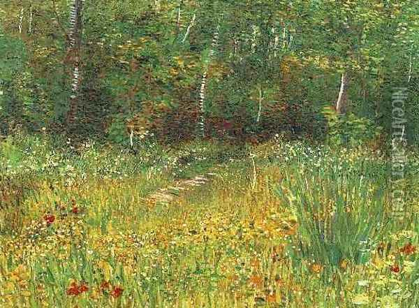 Park At Asnieres In Spring Oil Painting - Vincent Van Gogh