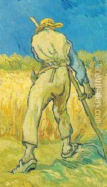 The Reaper (after Millet) Oil Painting - Vincent Van Gogh