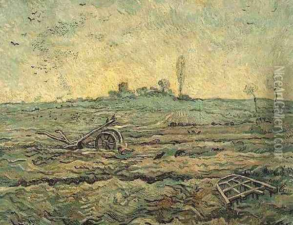 The Plough And The Harrow (after Millet) Oil Painting - Vincent Van Gogh