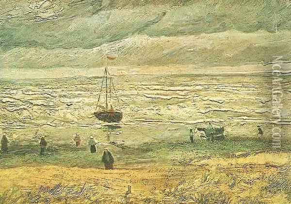 View Of The Sea At Scheveningen Oil Painting - Vincent Van Gogh