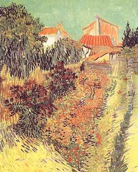 Garden Behind A House Oil Painting - Vincent Van Gogh