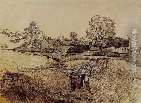 Pere Eloi's Farm Oil Painting - Vincent Van Gogh