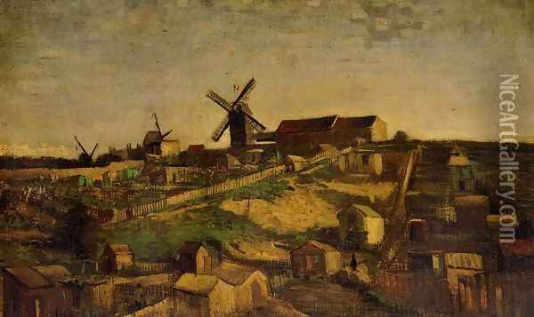 View Of Montmartre With Windmills Oil Painting - Vincent Van Gogh