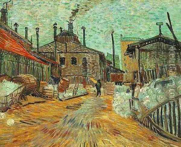The Factory At Asnieres Oil Painting - Vincent Van Gogh