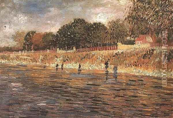 The Banks Of The Seine Oil Painting - Vincent Van Gogh