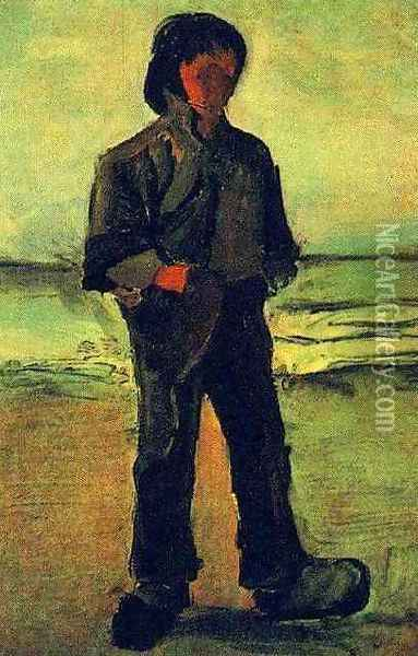 Fisherman On The Beach Oil Painting - Vincent Van Gogh