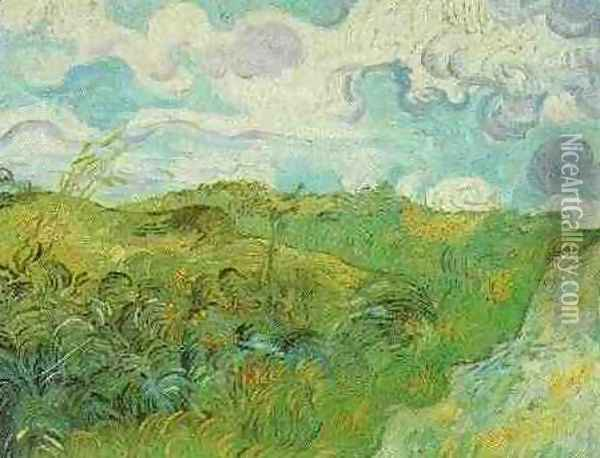 Green Wheat Fields Oil Painting - Vincent Van Gogh