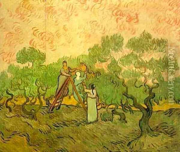 Olive Picking II Oil Painting - Vincent Van Gogh