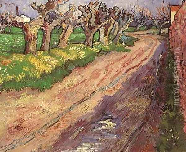 Pollard Willows Oil Painting - Vincent Van Gogh