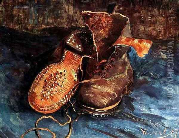 Pair Of Shoes A IV Oil Painting - Vincent Van Gogh