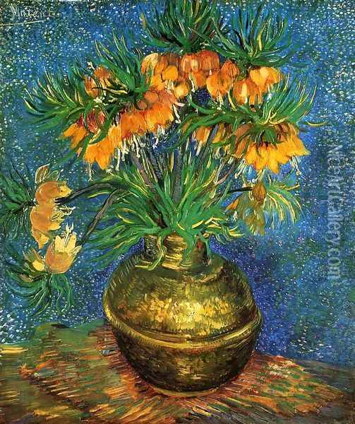 Still Life with Frutillarias Oil Painting - Vincent Van Gogh