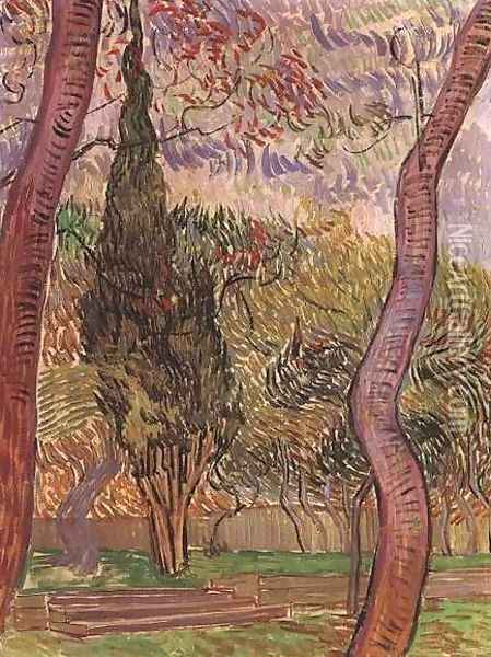 Garden Of Saint Paul Hospital The IV Oil Painting - Vincent Van Gogh